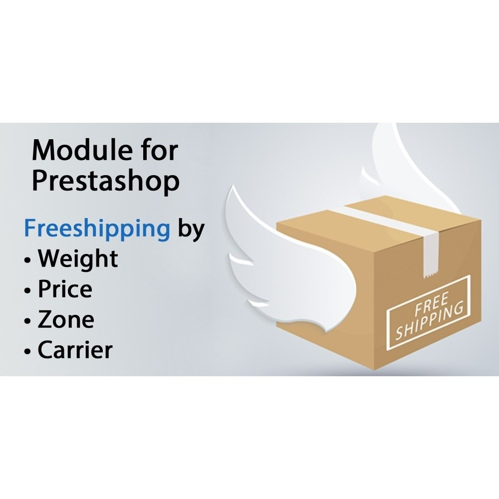module - Shipping Costs - Freeshipping,free shipping by weight,price,carrier,zone - 1