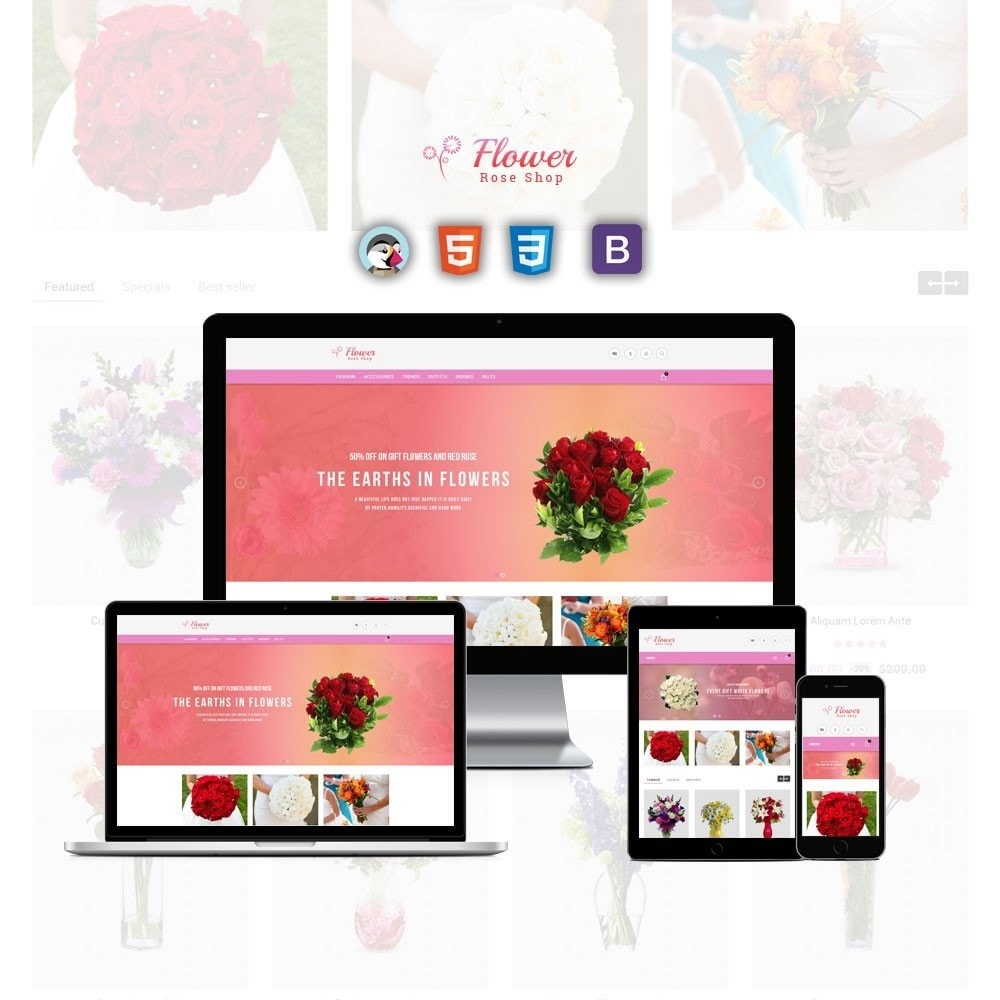 theme - Geschenke, Blumen & Feiern - Flower Store - 1