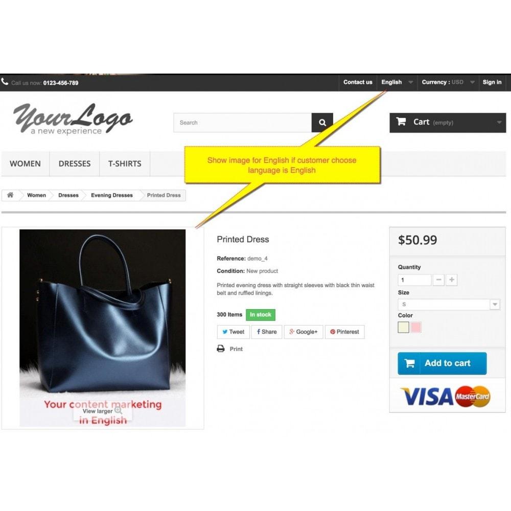 module - Visuels des produits - Multi-language image - Product image per language - 3