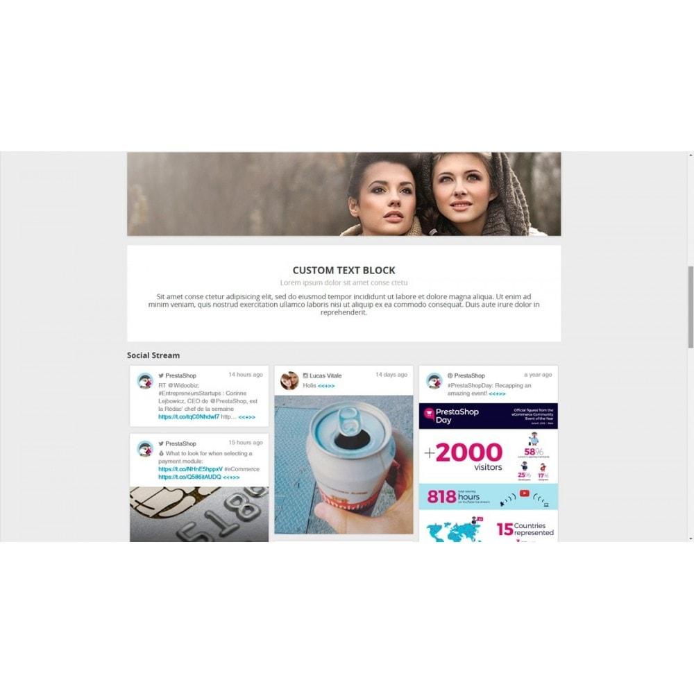 module - Social Widget - Presta Social Stream - 8