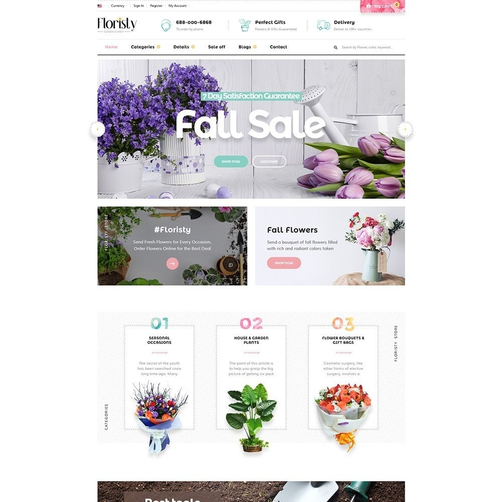 theme - PrestaShop Templates - Pts Floristy - 2