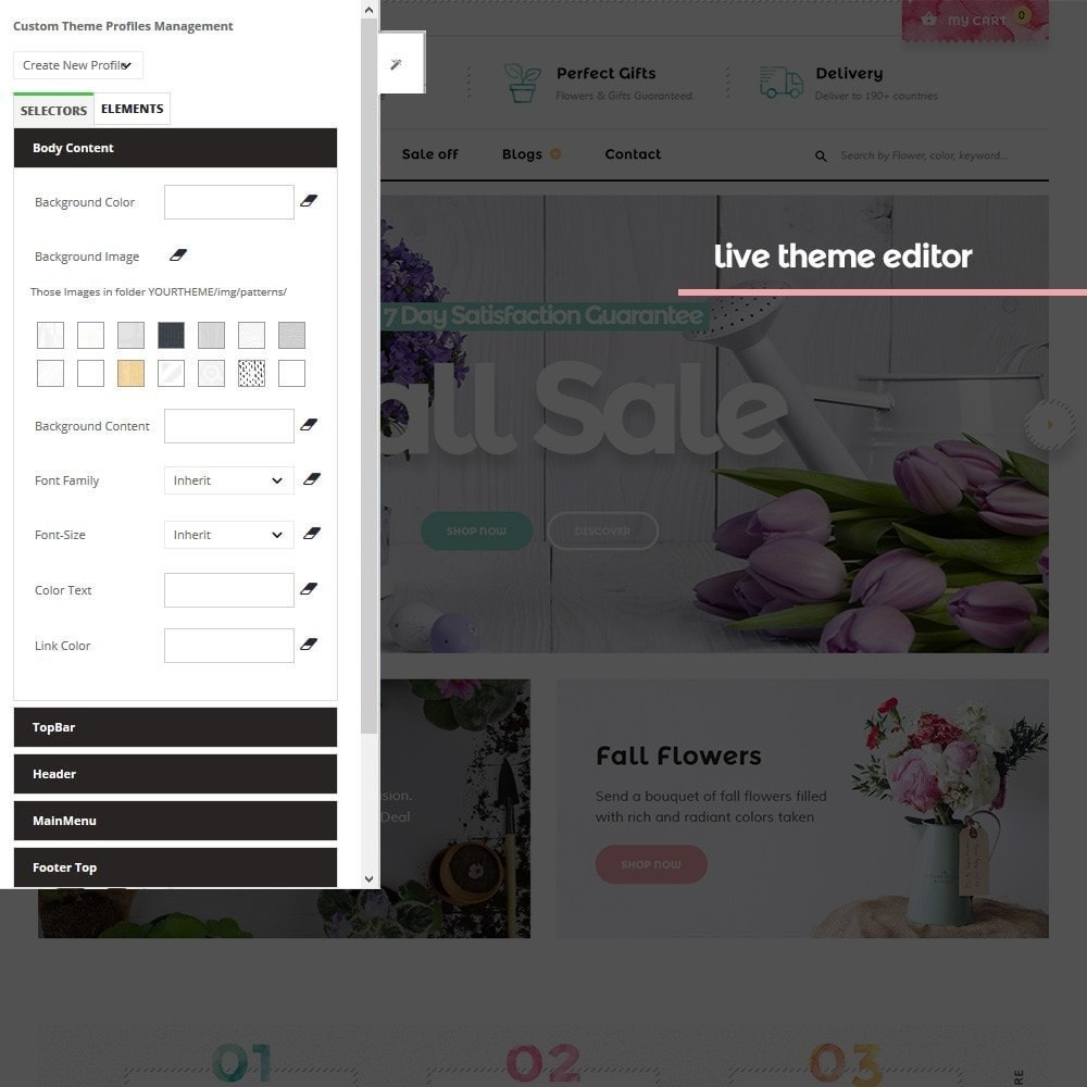 theme - PrestaShop Templates - Pts Floristy - 5