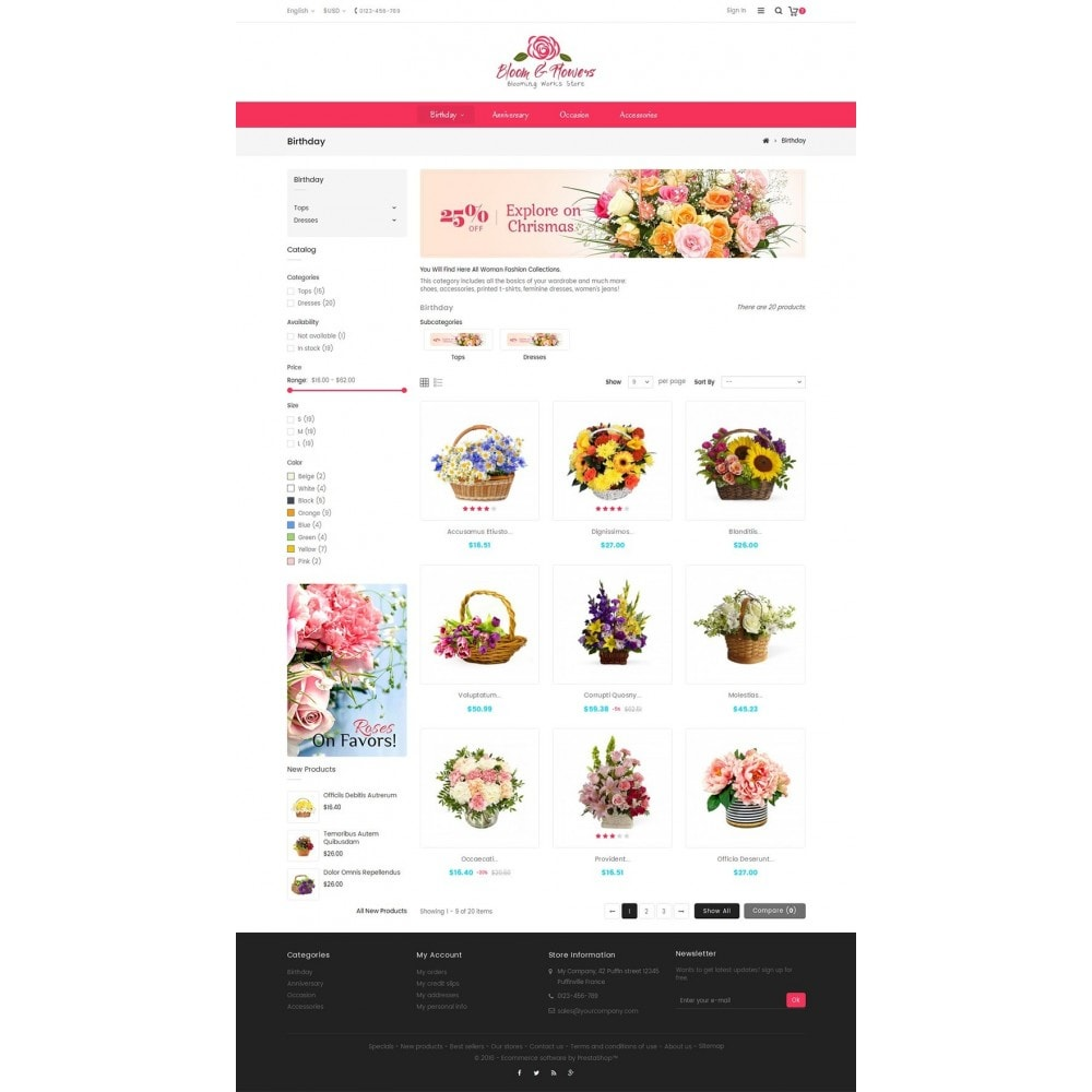 theme - Gifts, Flowers & Celebrations - Bloom Flower Store - 3