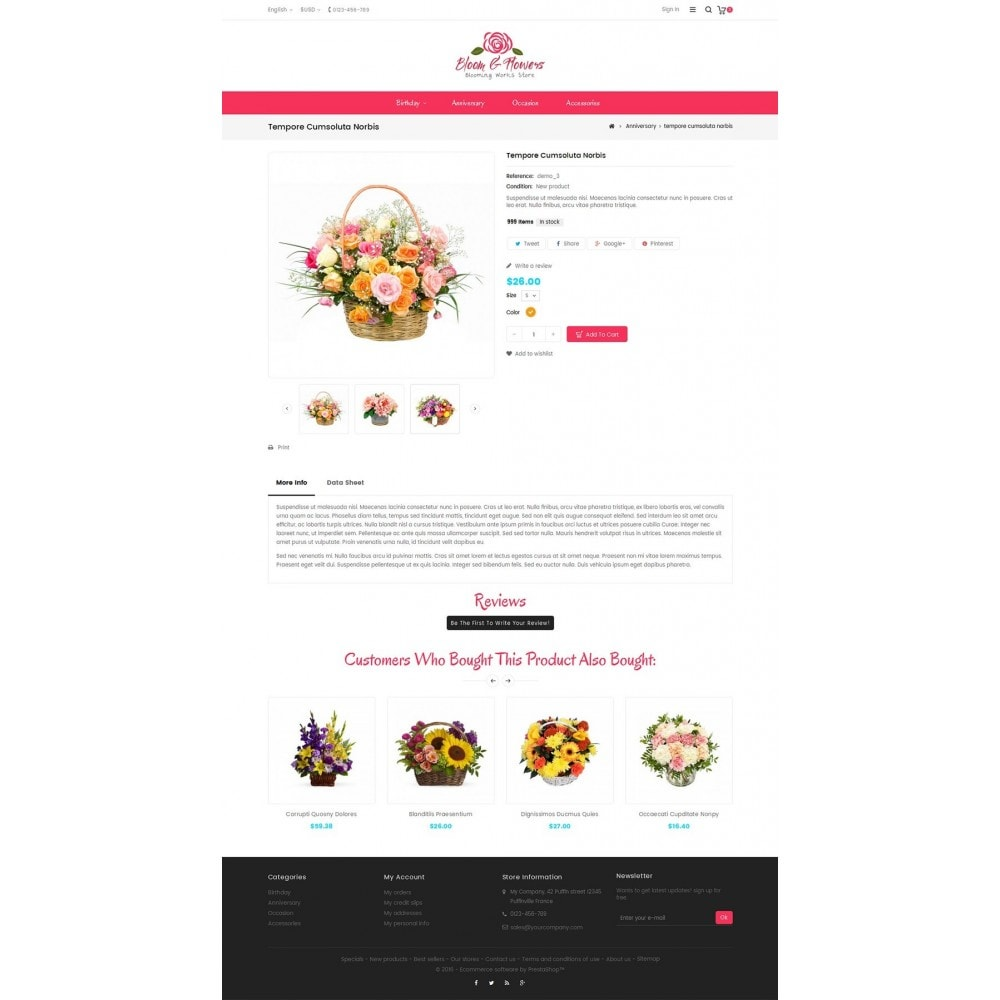 theme - Gifts, Flowers & Celebrations - Bloom Flower Store - 5
