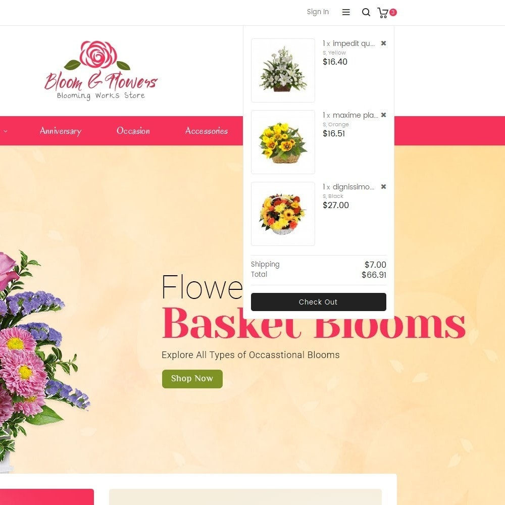 theme - Gifts, Flowers & Celebrations - Bloom Flower Store - 9