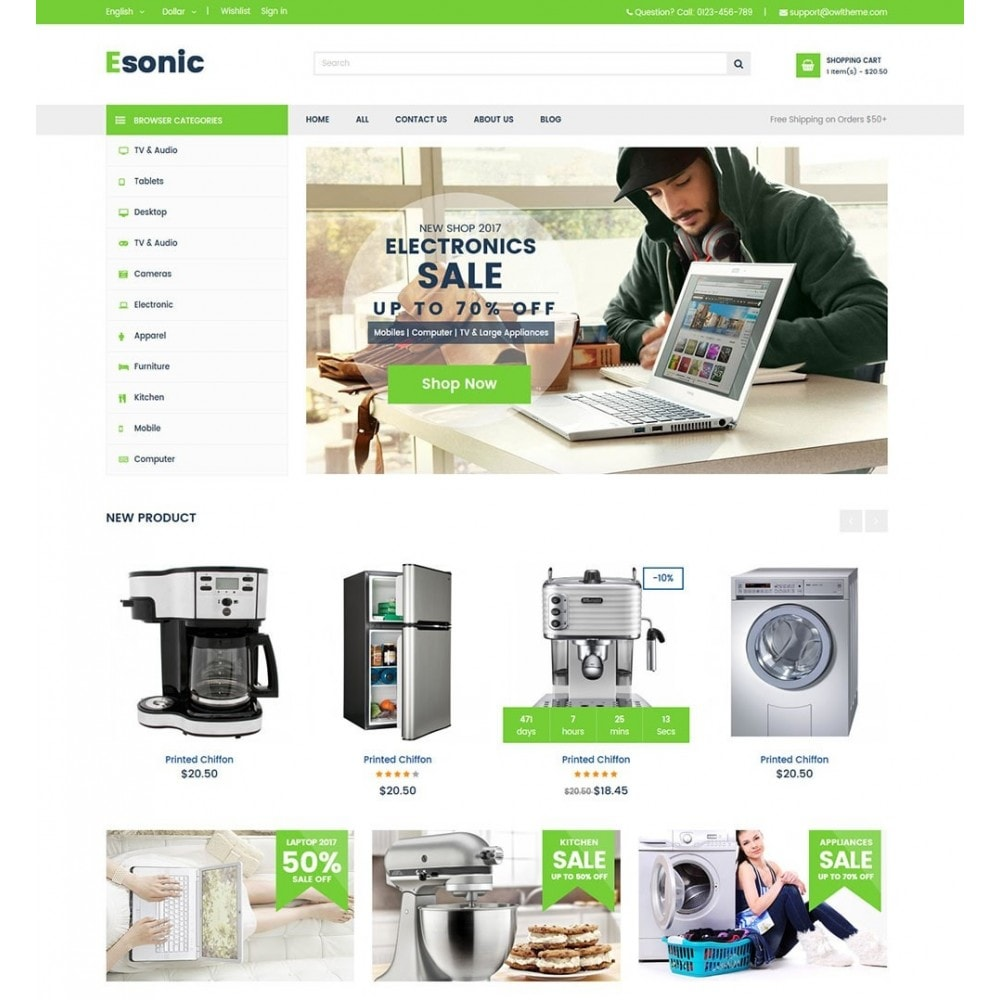 theme - Home & Garden - Green Shop - 2