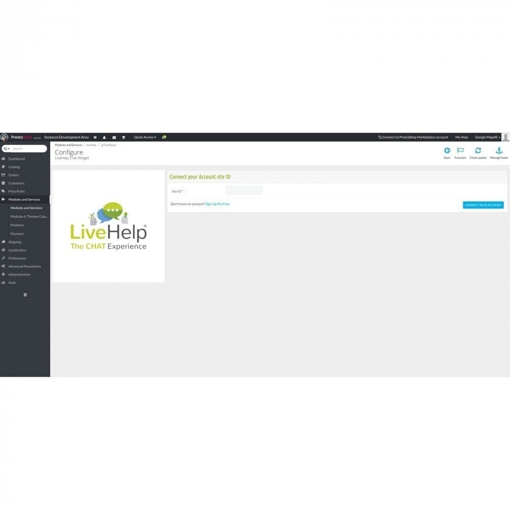 module - Supporto & Chat online - LiveHelp® Live Chat - 2