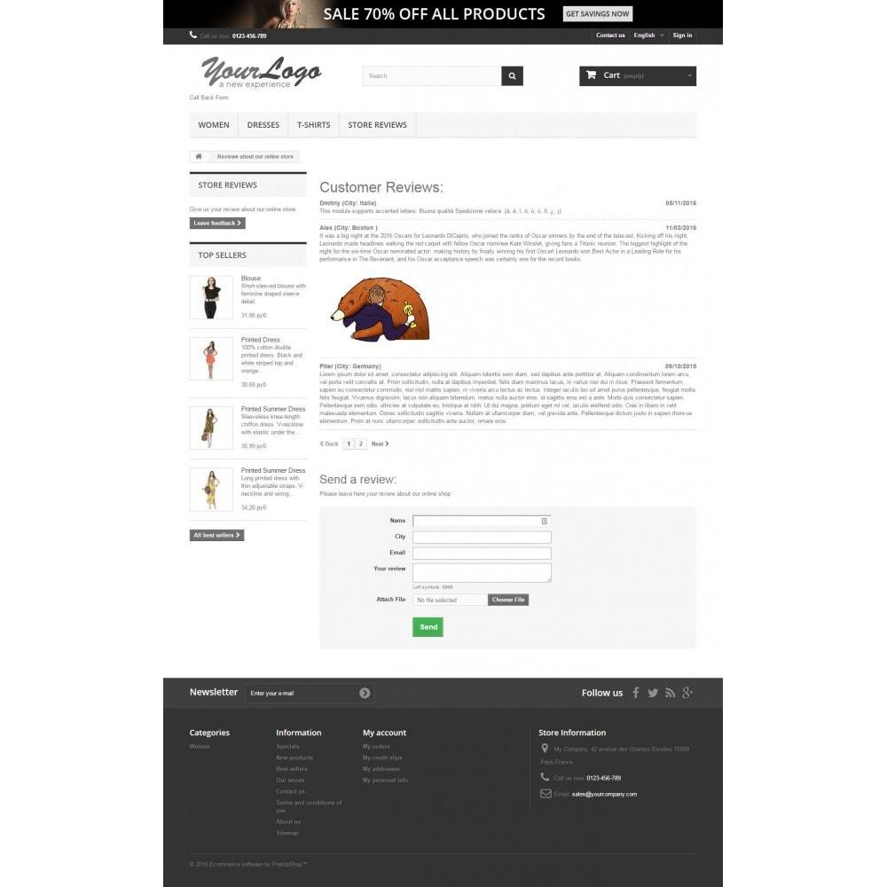 module - Comentarios de clientes - Reviews about shop - 4