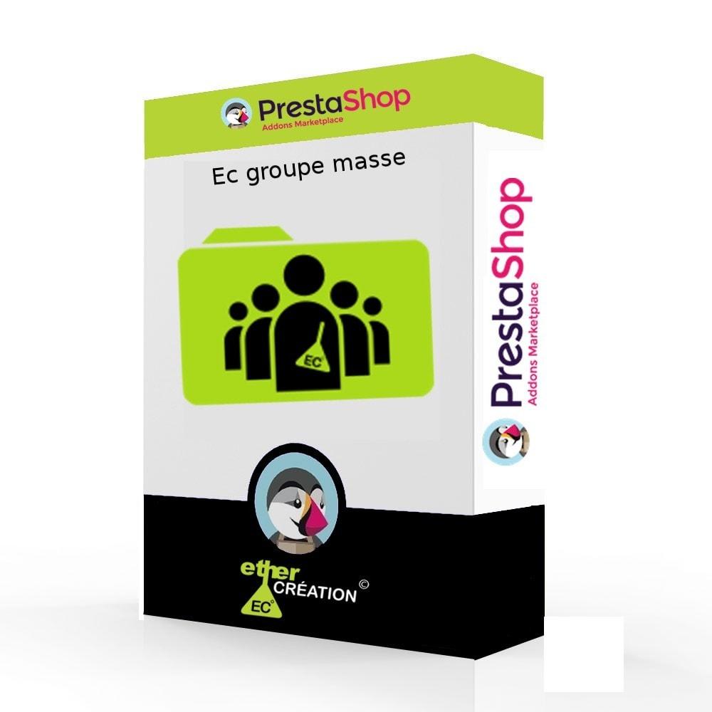 module - Fidelização & Apadrinhamento - Edition mass client groups - 1