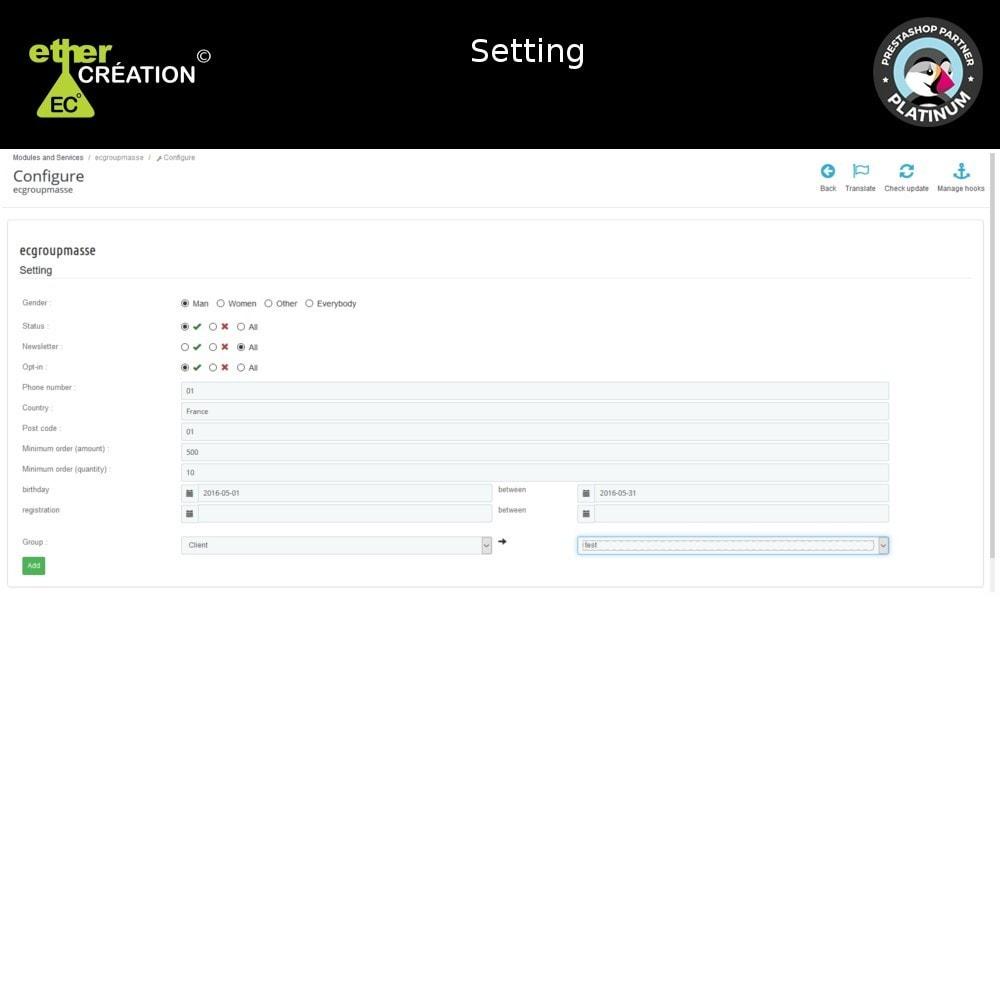 module - Fidelização & Apadrinhamento - Edition mass client groups - 4
