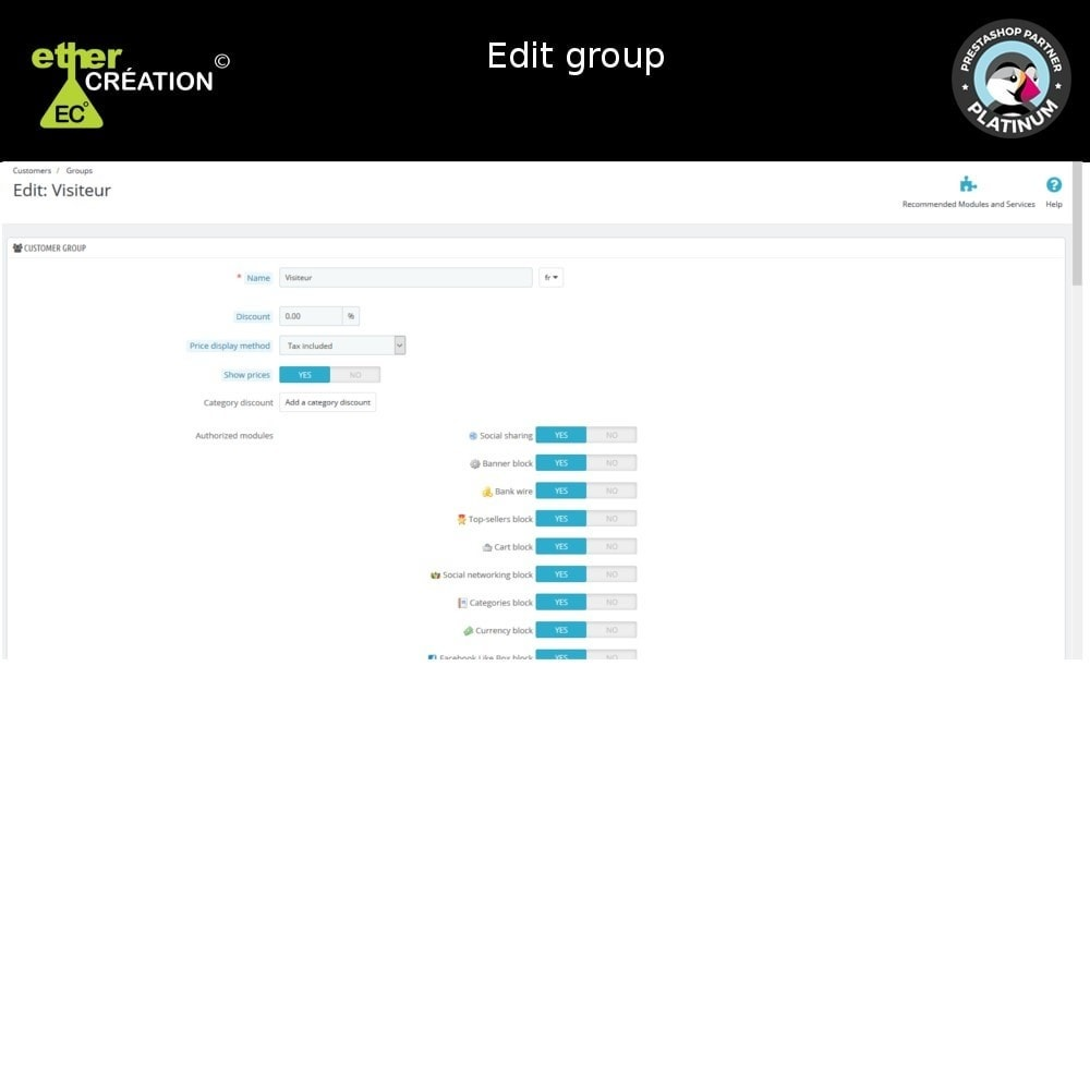 module - Referral & Loyalty Programs - Edition mass client groups - 6