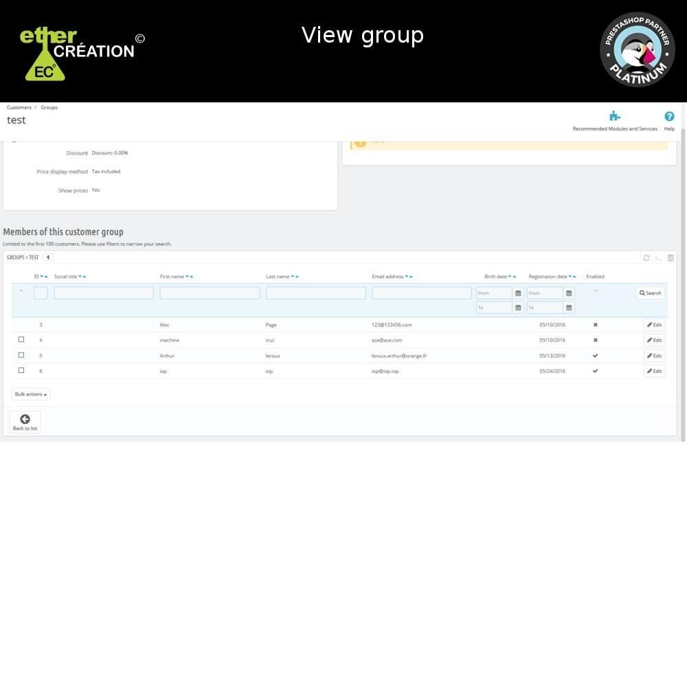 module - Fidelização & Apadrinhamento - Edition mass client groups - 8