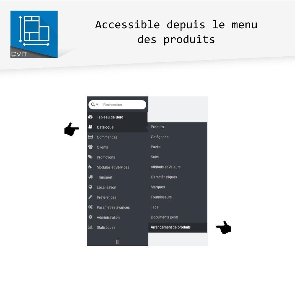 module - Personnalisation de Page - Arrangement de produits - 11