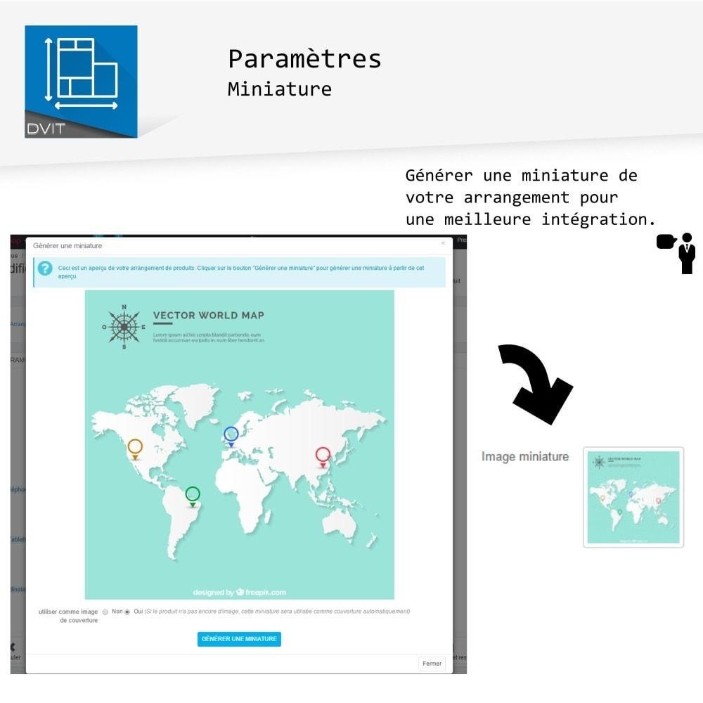 module - Personnalisation de Page - Arrangement de produits - 12
