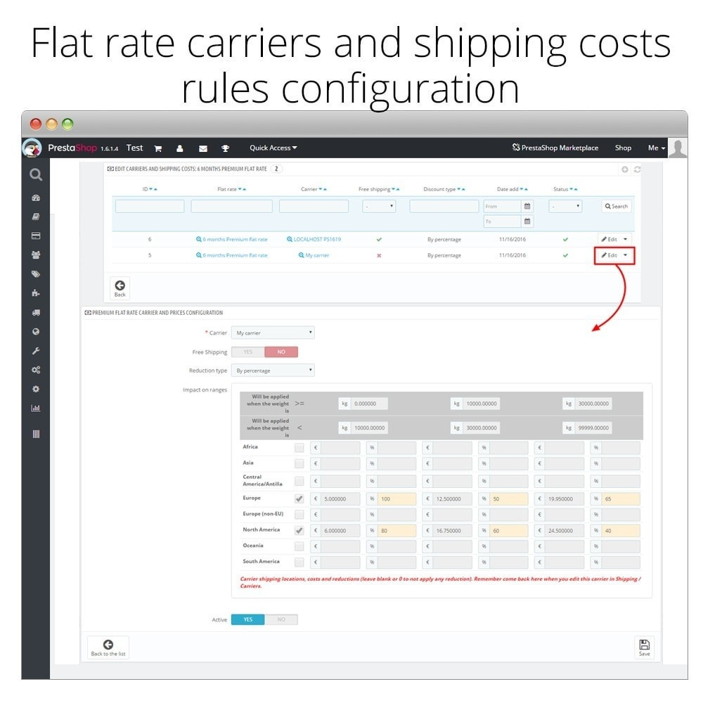 module - Shipping Costs - Shipping Premium flat rate and discounts - 5