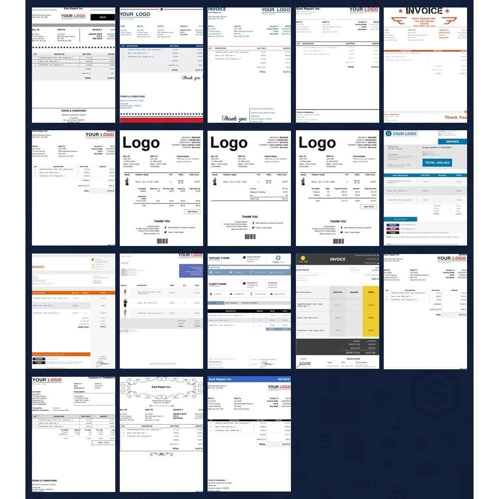 module - Buchhaltung & Rechnung - Rechnung, Lieferung, Gutschrift PDF + Kundenummer - 2
