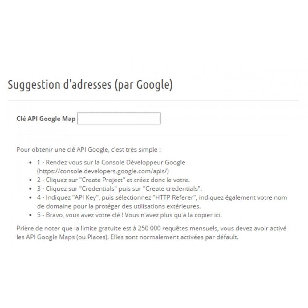 module - Inscription & Processus de commande - Suggestion d'adresse (par Google) - 5