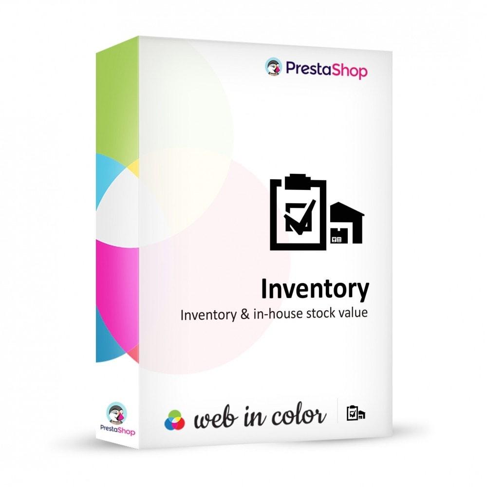 module - Gestión de Stock y de Proveedores - Inventory (scan or input fields) - 1