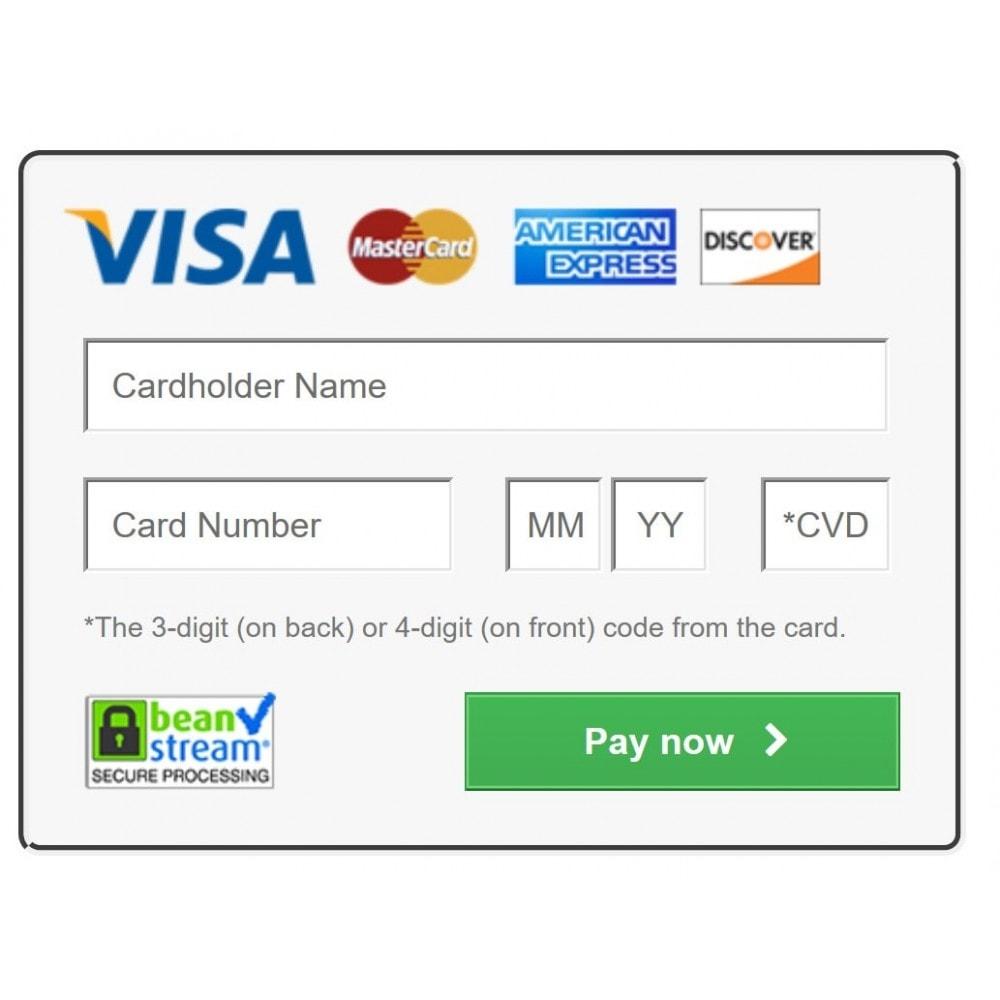 module - Płatność kartą lub Płatność Wallet - Beanstream Payment - 1