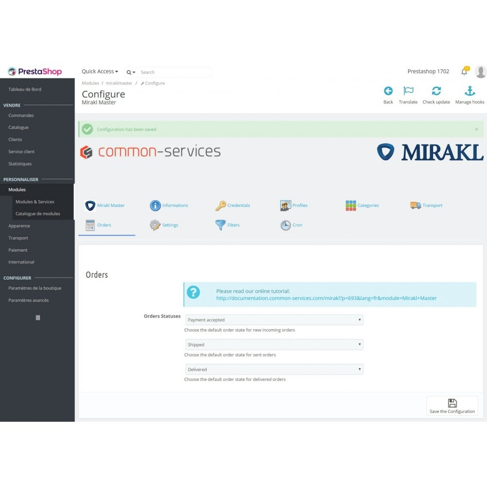 module - Торговая площадка - Mirakl - multi-marketplaces connector - 6