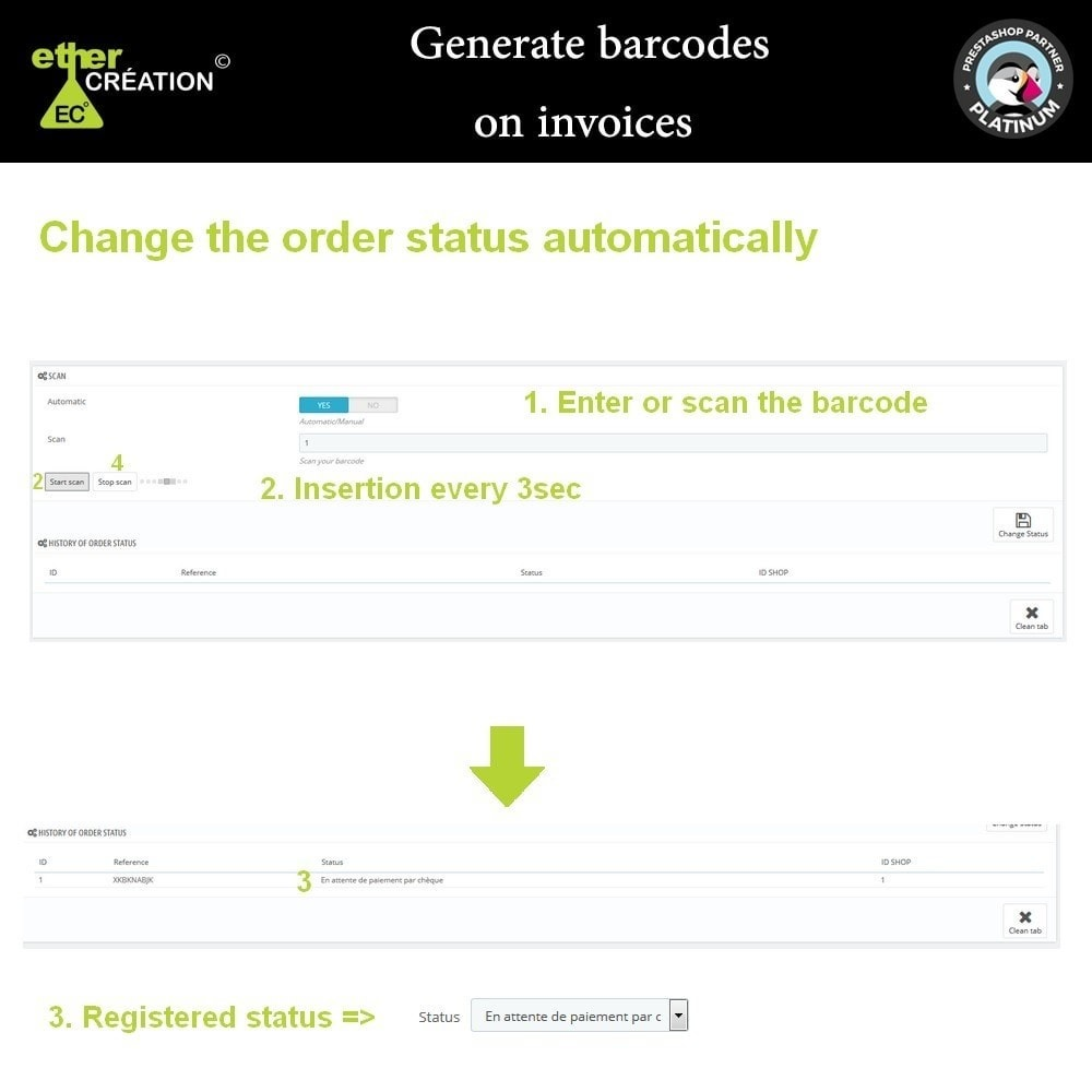 module - Préparation & Expédition - Générateur de code barre sur les factures - 2