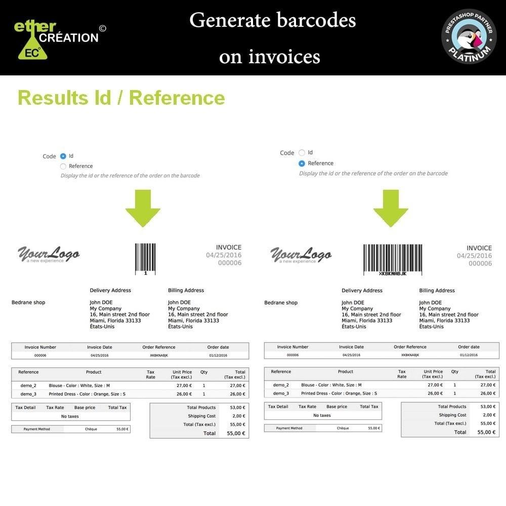 module - Préparation & Expédition - Générateur de code barre sur les factures - 3