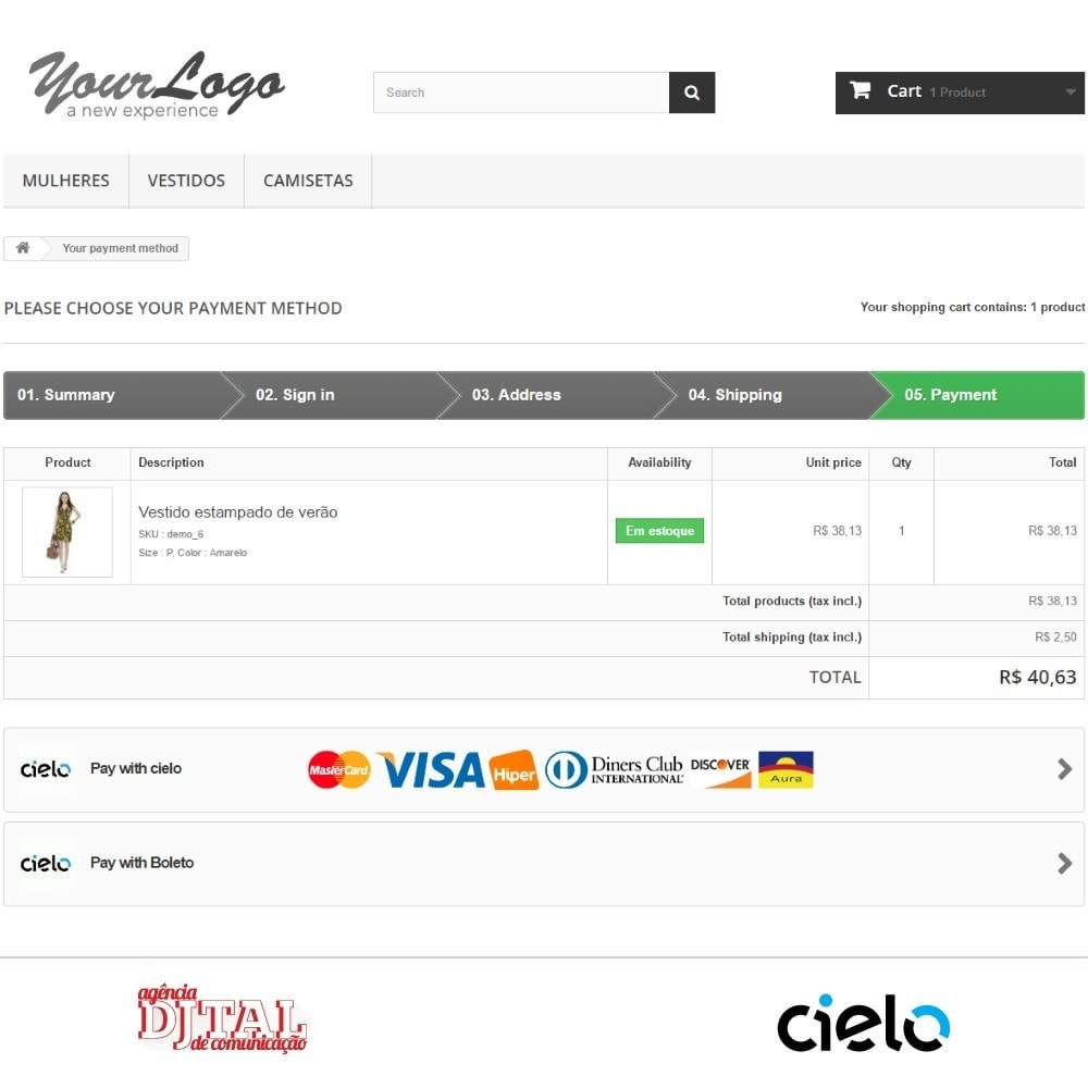 module - Creditcardbetaling of Walletbetaling - Checkout Cielo - 3