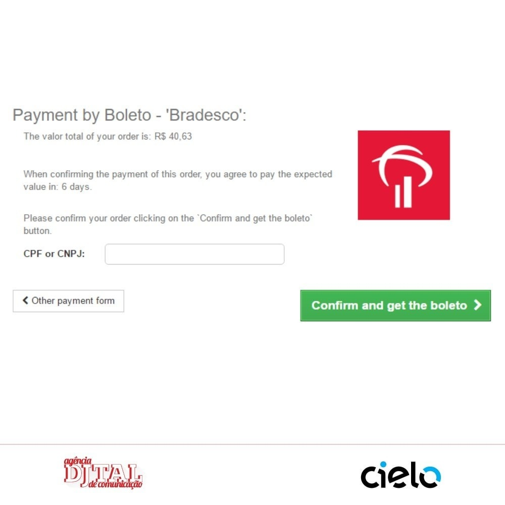 module - Creditcardbetaling of Walletbetaling - Checkout Cielo - 4