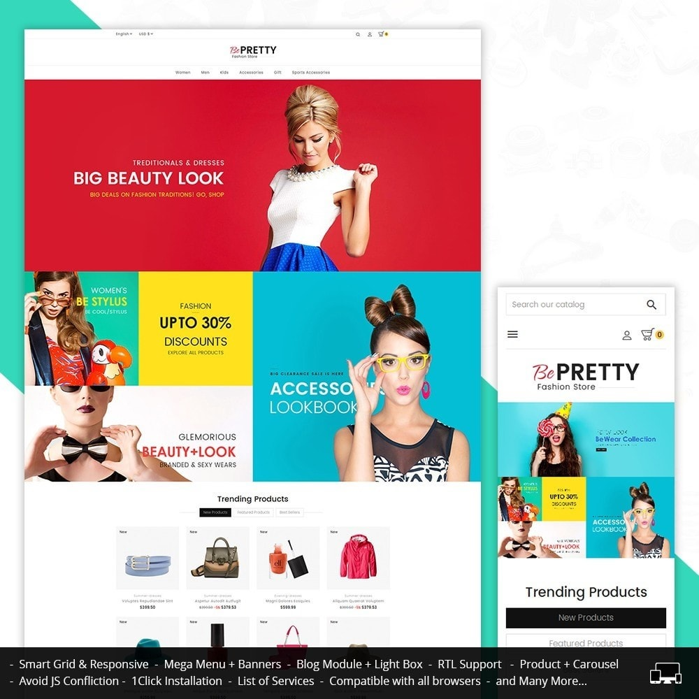 theme - Moda & Obuwie - BePretty Fashion Store - 1