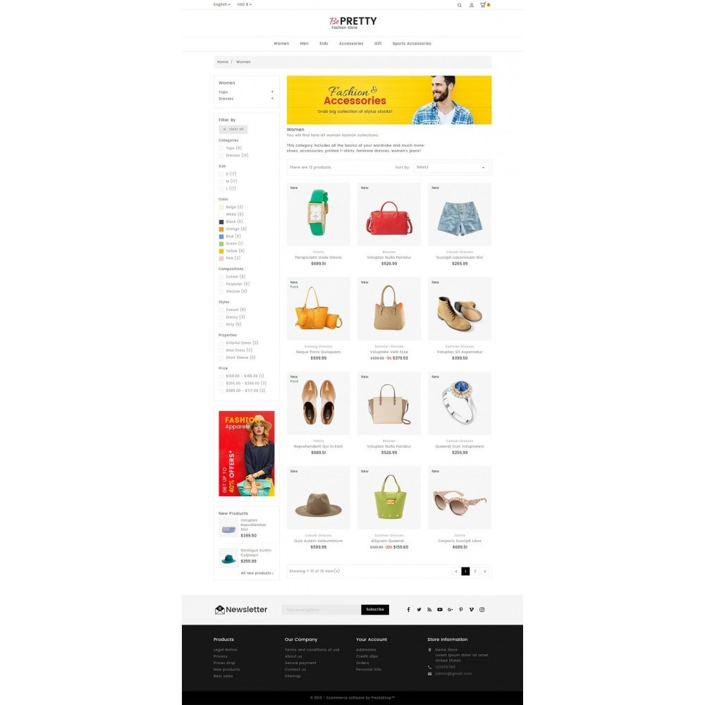 theme - Мода и обувь - BePretty Fashion Store - 3