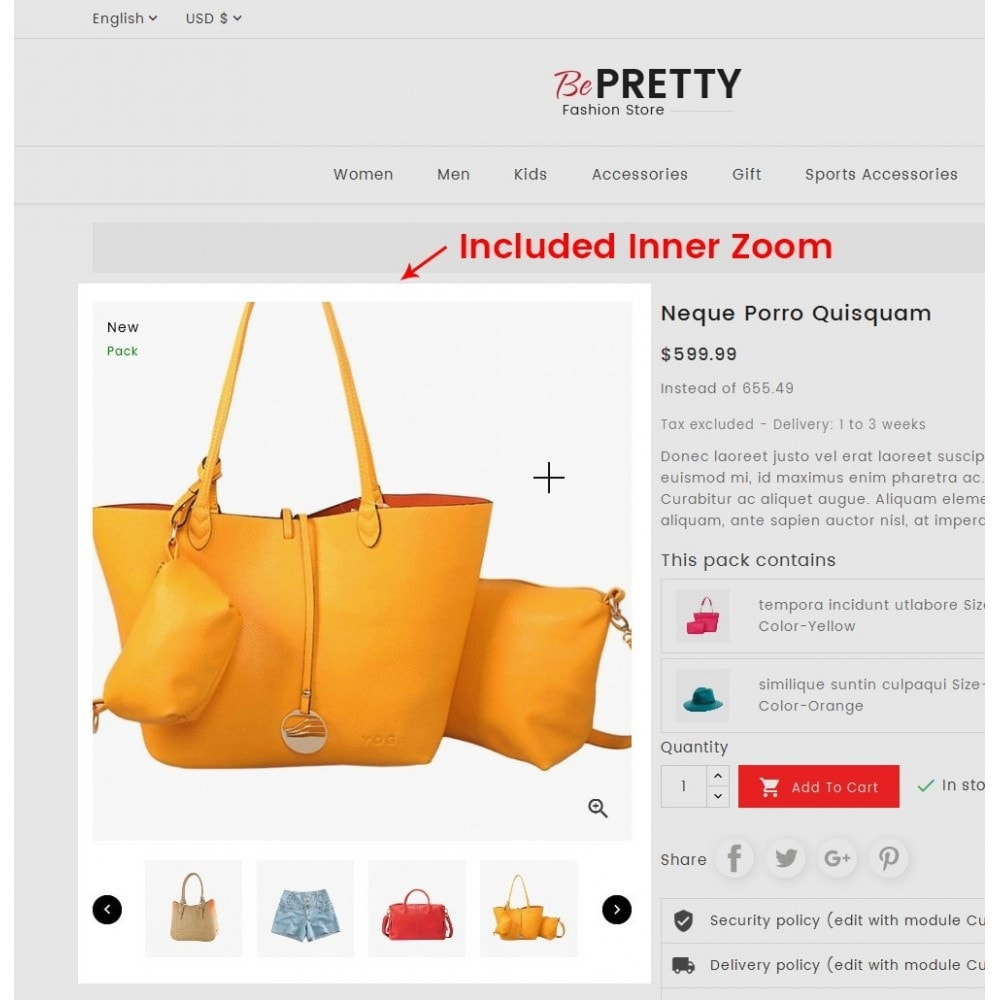 theme - Мода и обувь - BePretty Fashion Store - 5