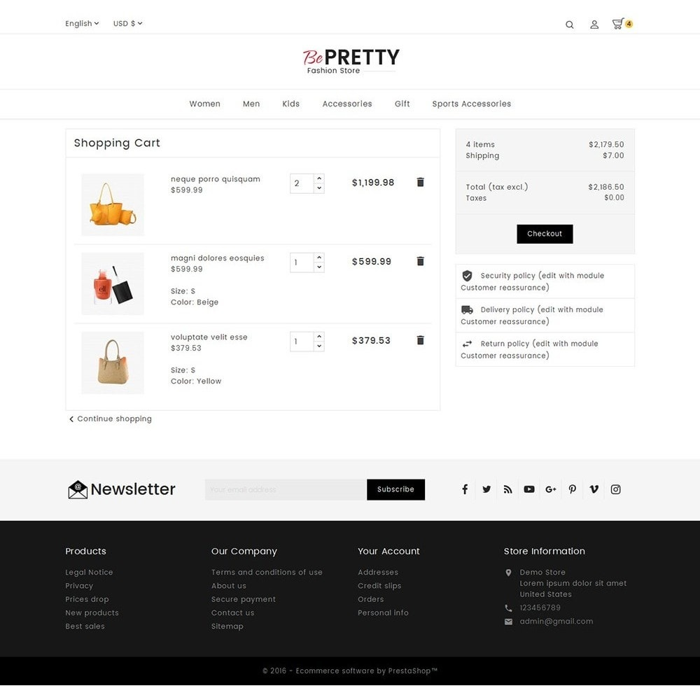 theme - Мода и обувь - BePretty Fashion Store - 6