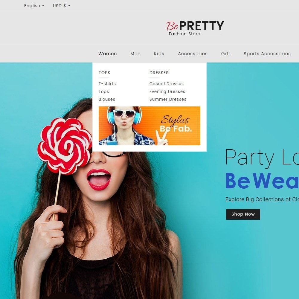 theme - Мода и обувь - BePretty Fashion Store - 10