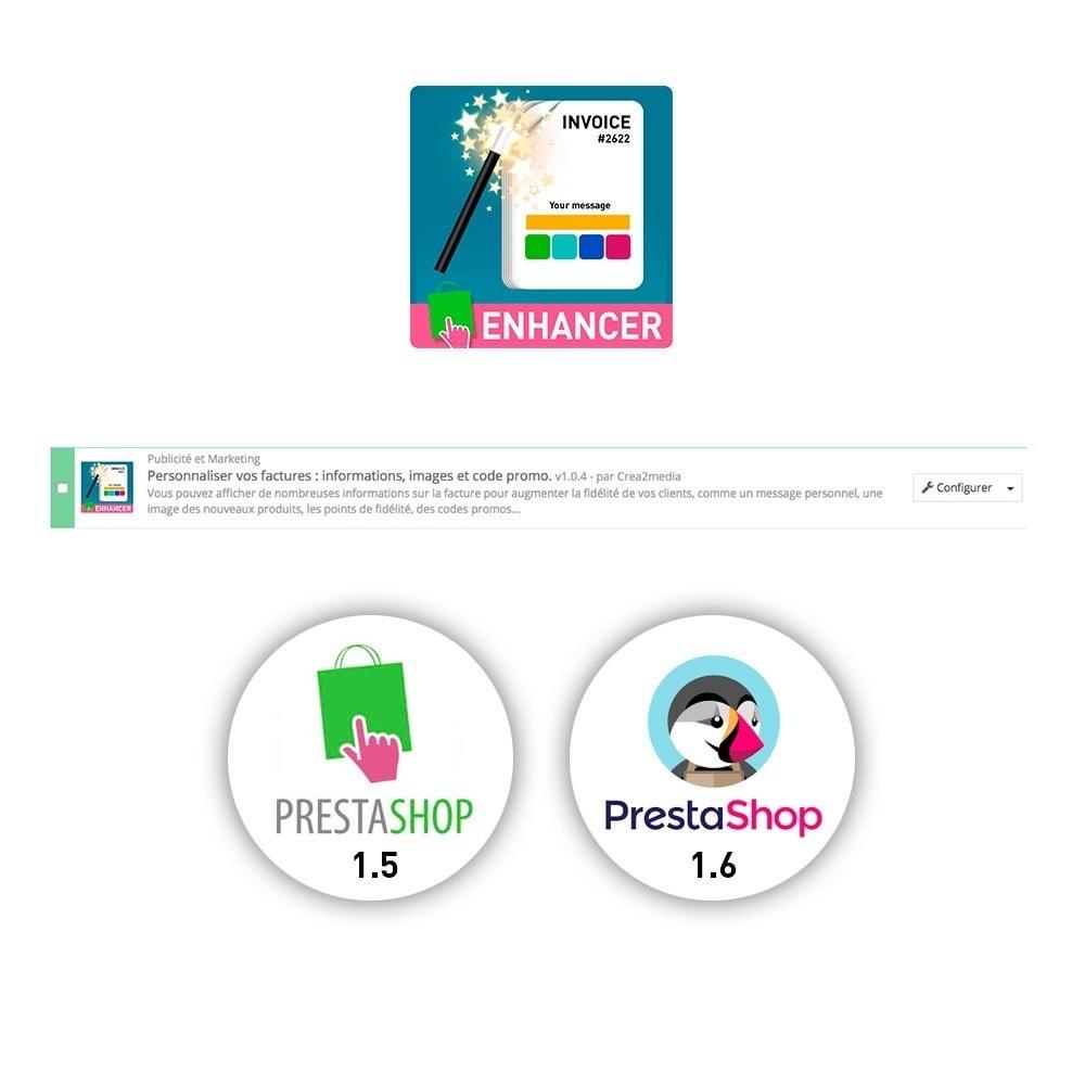 module - Comptabilité & Facturation - Personnaliser vos PDF : informations et code promo - 1