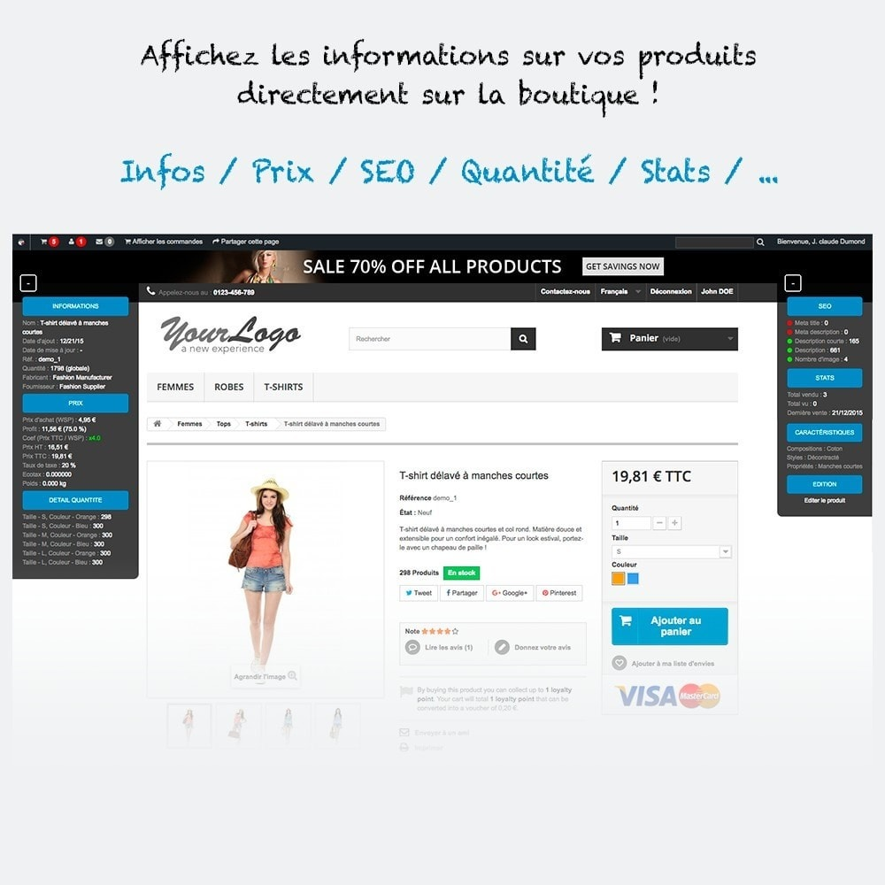 module - Outils d'administration - Administration et informations produit sur la boutique - 1