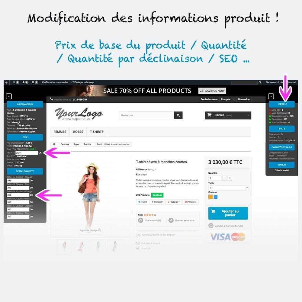 module - Outils d'administration - Administration et informations produit sur la boutique - 2