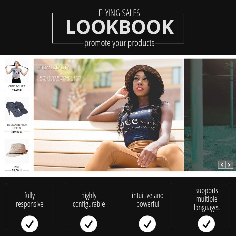 module - Слайдеров (карусельных) и галерей - Lookbooks for Products - 1