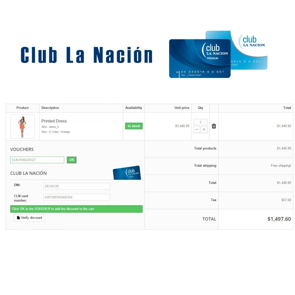 module - Loyaliteitsprogramma - Club La Nación - 1