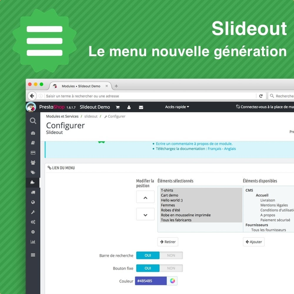 module - Menu - Slideout • Menu mobile - 3