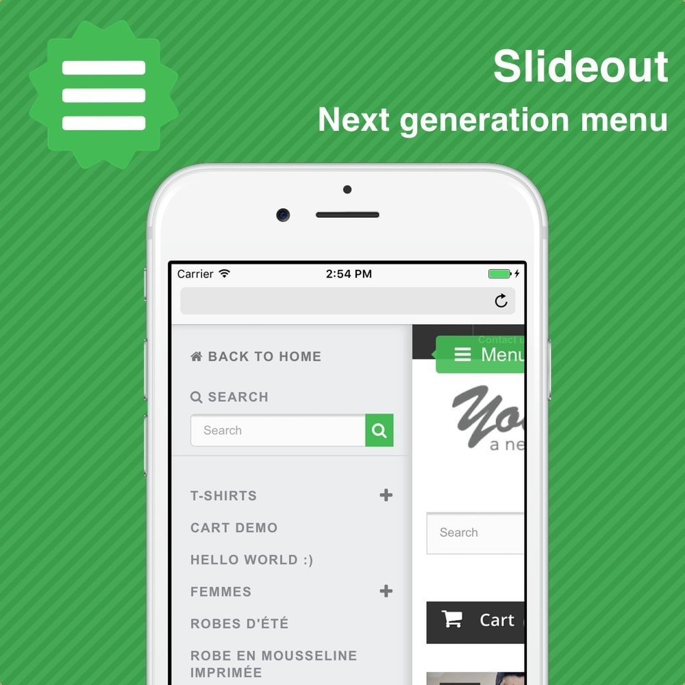 module - Menü - Slideout • Mobile menu - 1