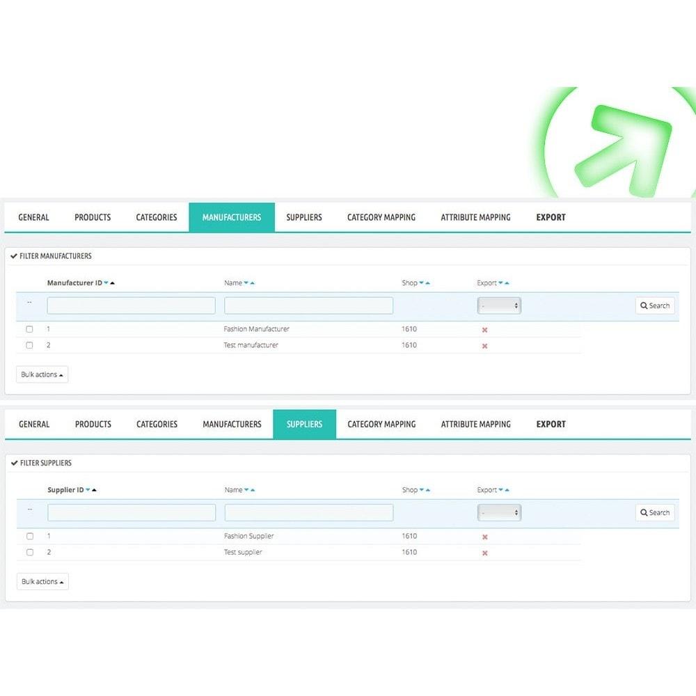 module - Comparateurs de prix - Bizrate - Export + Filtres avancés - 5