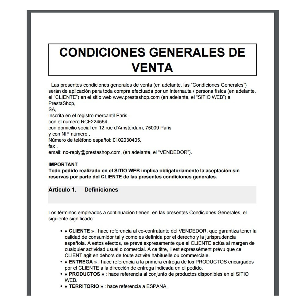 bundle - Le offerte del momento per risparmiare! - Custom Terms and Conditions for Spain + Cookie Policy Banner (Pack) - 3