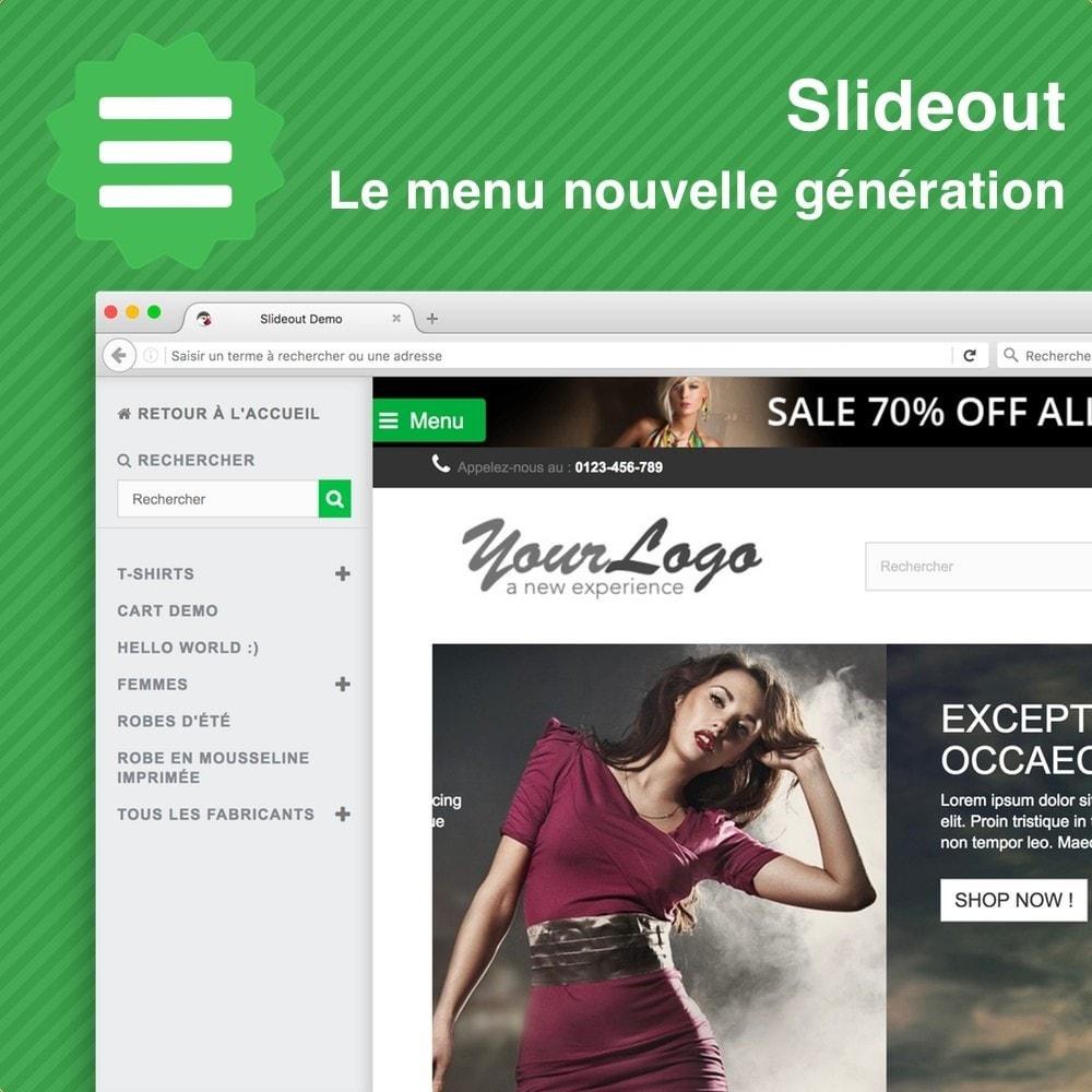 module - Menu - Slideout • Le menu nouvelle génération - 2
