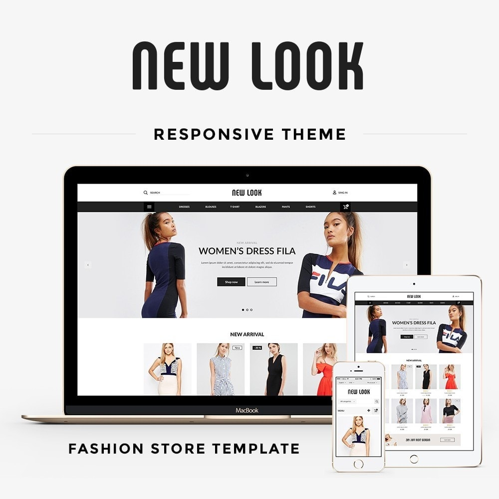 theme - Мода и обувь - New look  Fashion Store - 1