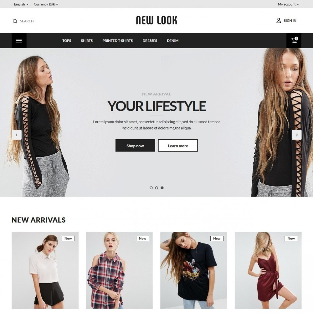 theme - Мода и обувь - New look  Fashion Store - 2