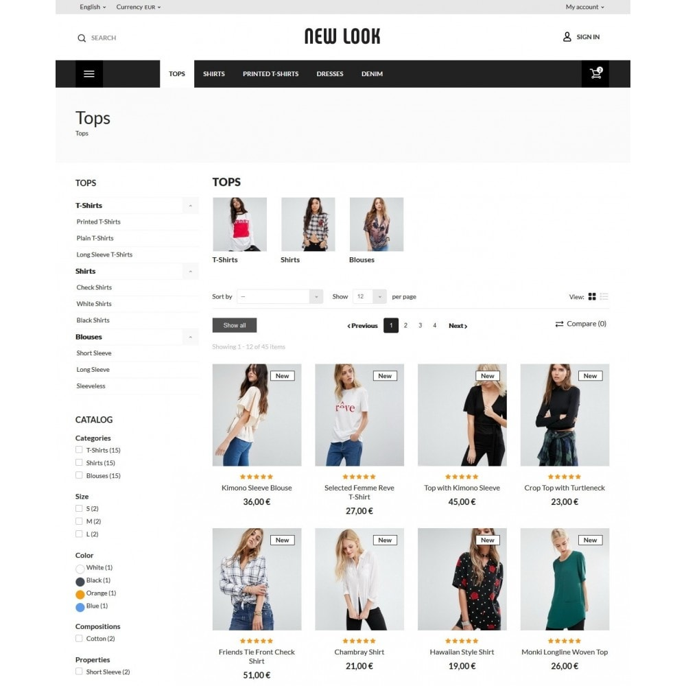 theme - Мода и обувь - New look  Fashion Store - 6