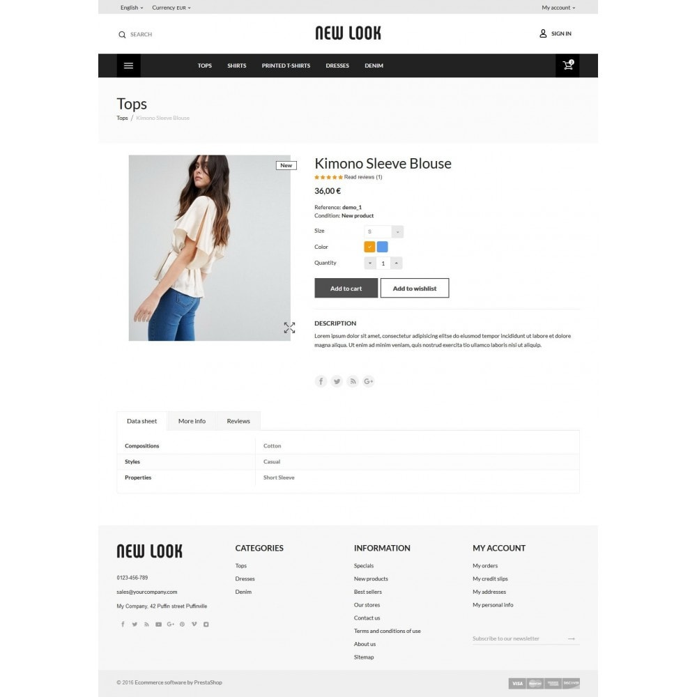 theme - Мода и обувь - New look  Fashion Store - 8