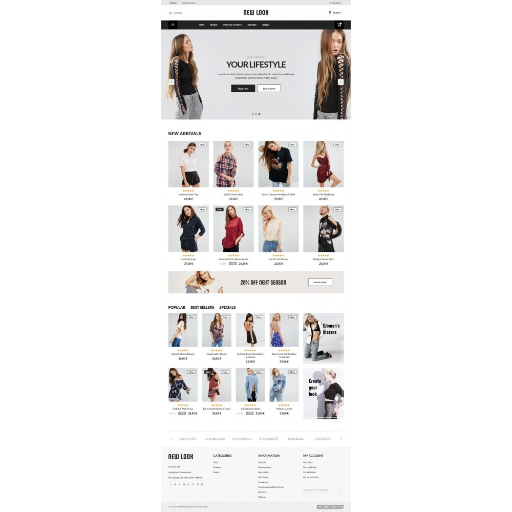 theme - Мода и обувь - New look  Fashion Store - 10