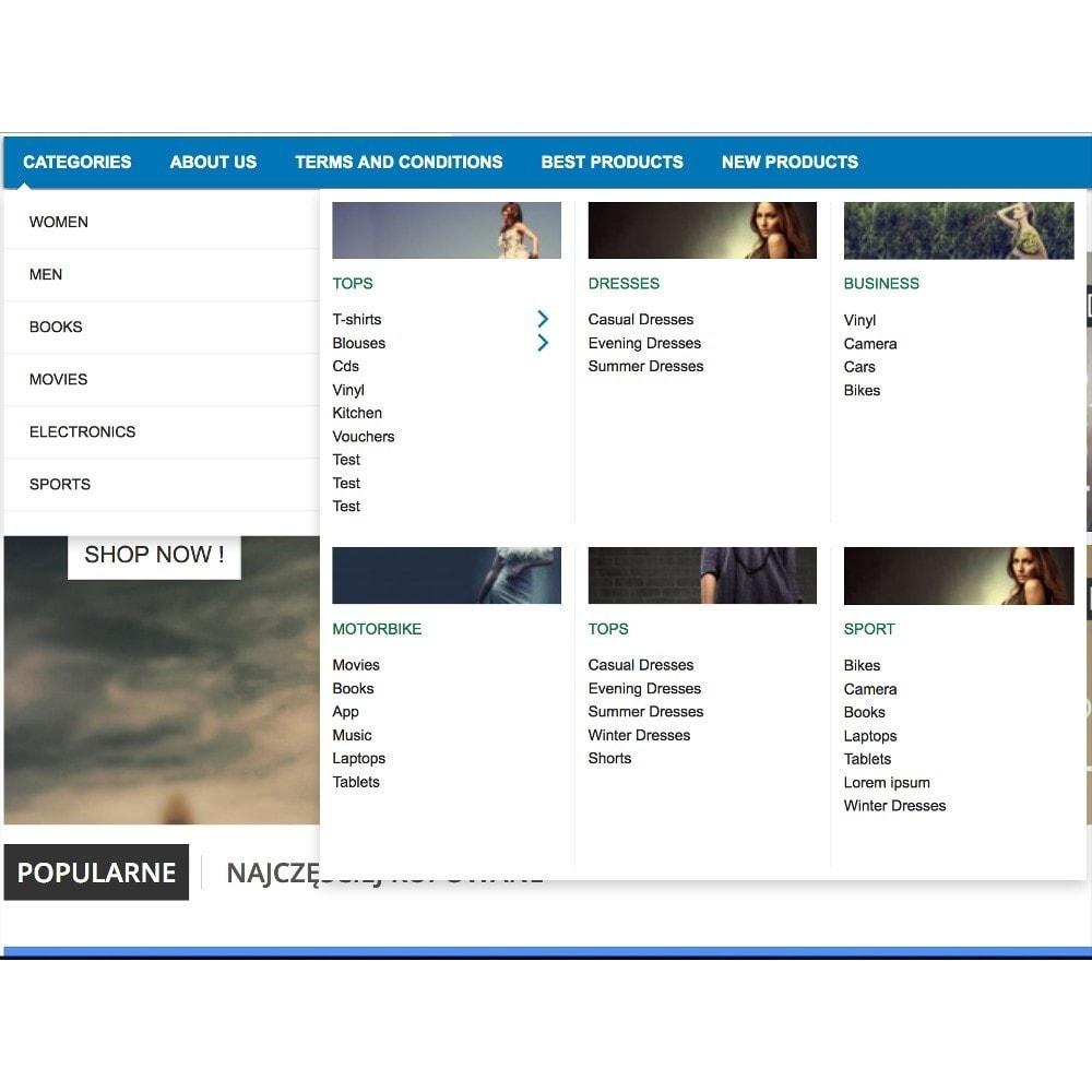 module - Dispositivi mobili - Mega Menu (amazon style) - 1