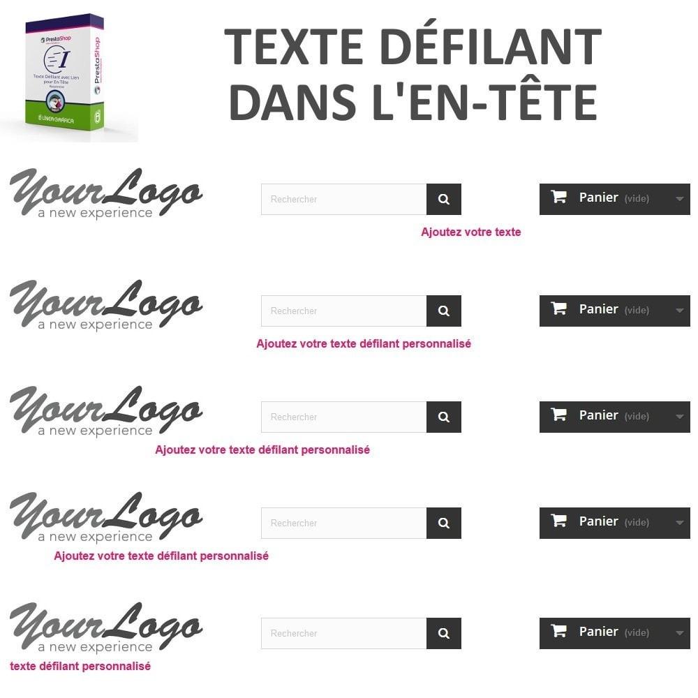 module - Blocs, Onglets & Bannières - Texte Défilant avec Lien pour En-Tête - 2